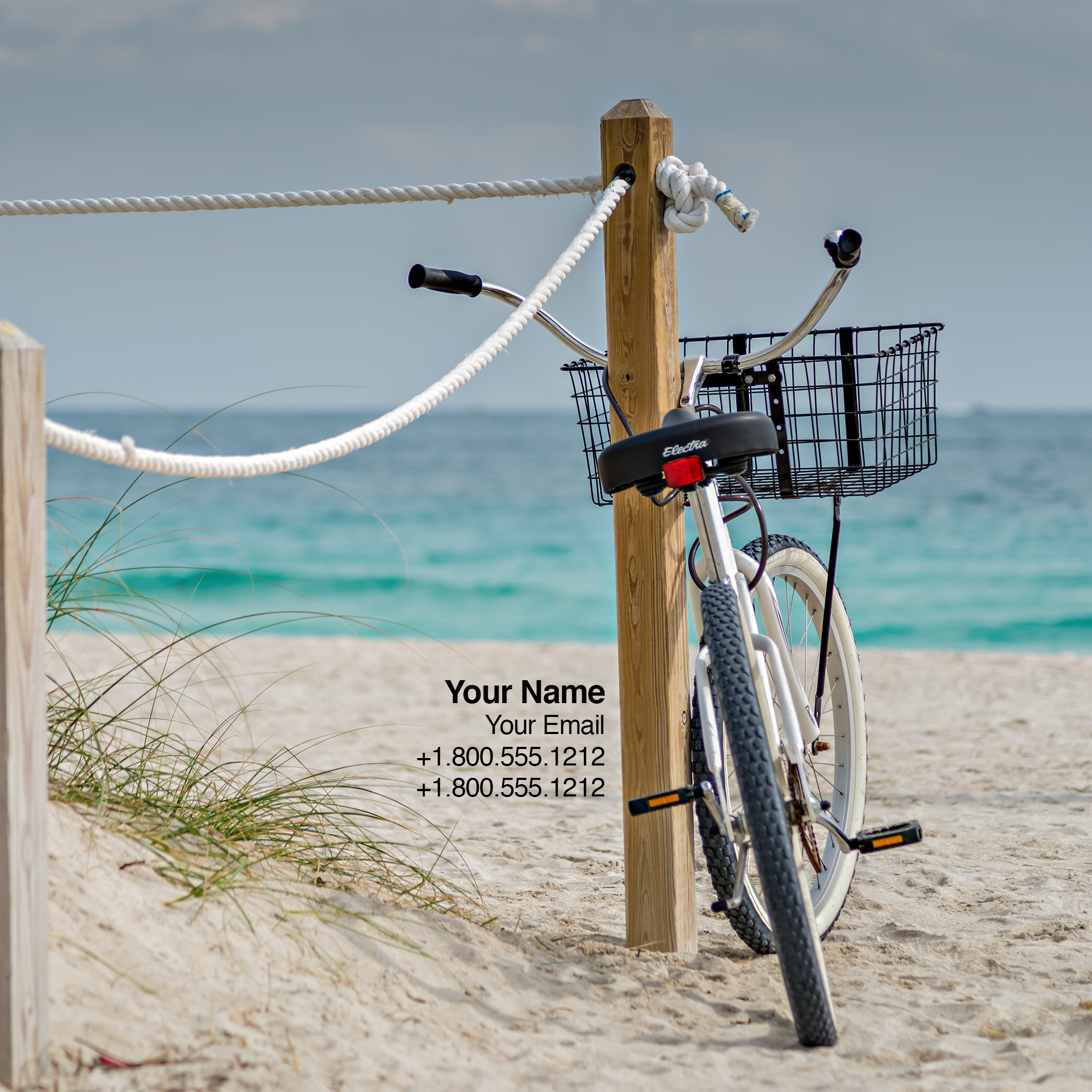 Bike at the Beach-iPad Wallpaper-generic