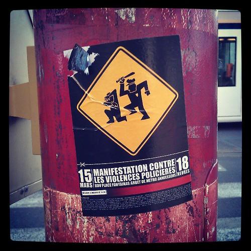 #police #manifestation #sticker #brussels