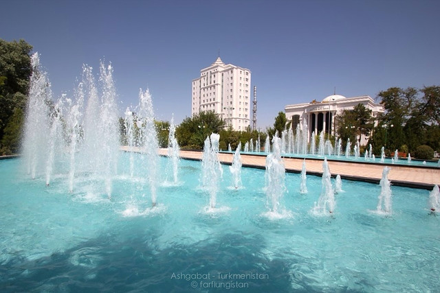 Plenty of water here in Ashgabat