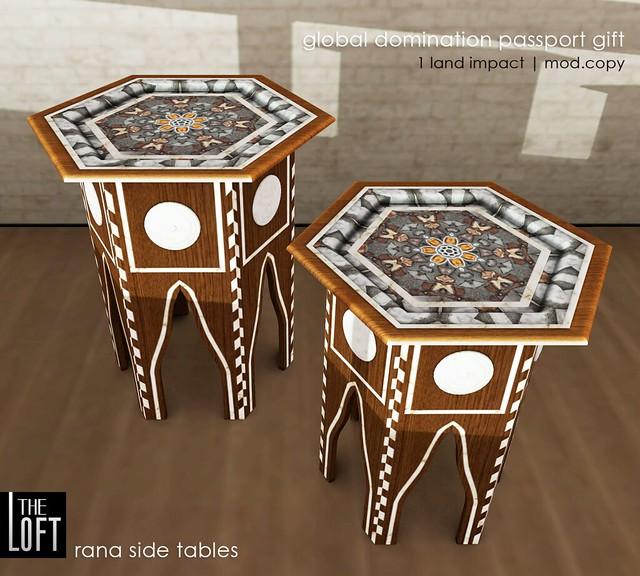 The Loft - Rana Moroccan Side Tables
