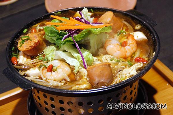 Ebi Toji (S$12) - Shrimps, cherry tomato, wolfberries, egg toji sauce and spring onion