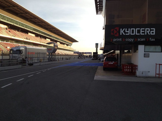 The Pit Lane at Formula One Winter Testing, March 2013