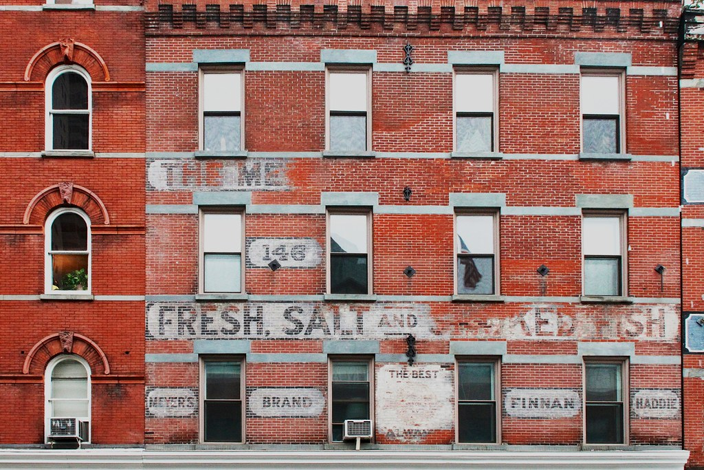 All kinds of fish: Faded paint in Manhattan