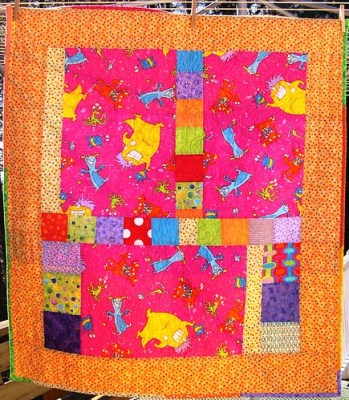 Monster Mash Baby Quilt - Front