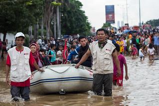 Boat at street.