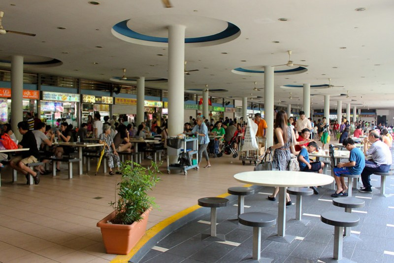 Inside Tiong Bahru Hawker Center