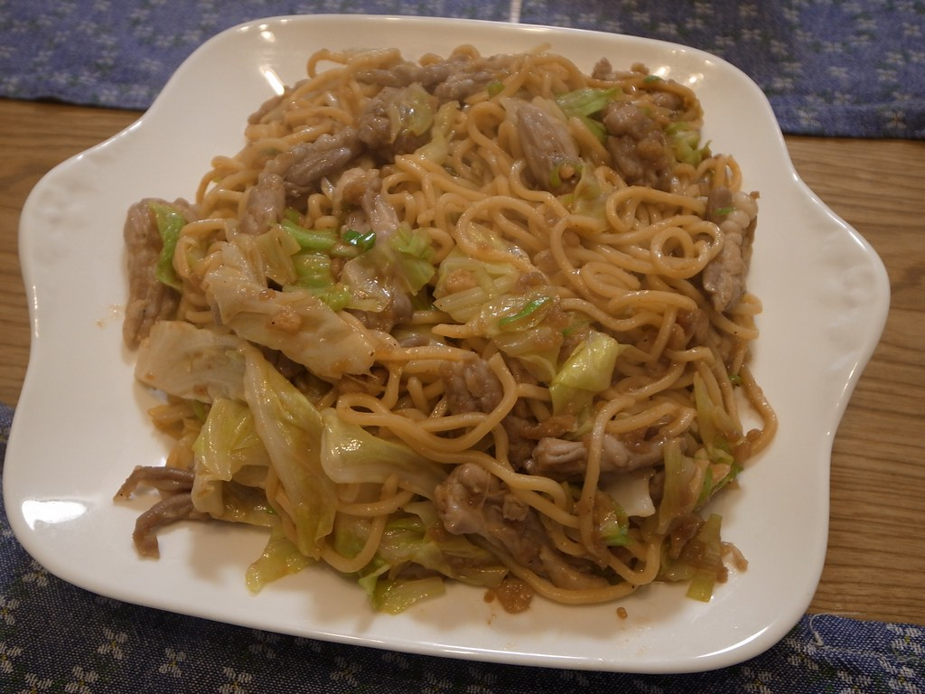 Stir-fried noodle in Hiruzen-style