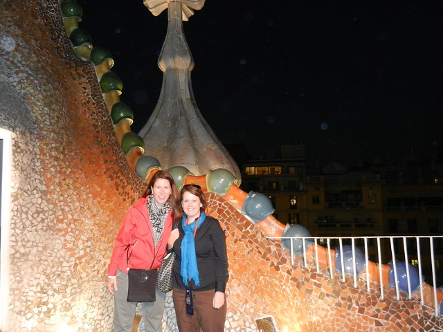 me & Angie on the Casa Batlló Rooftop