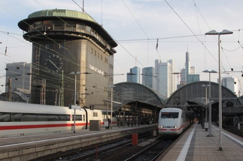 ICE trains at Frankfurt am Main Hauptbahnhof
