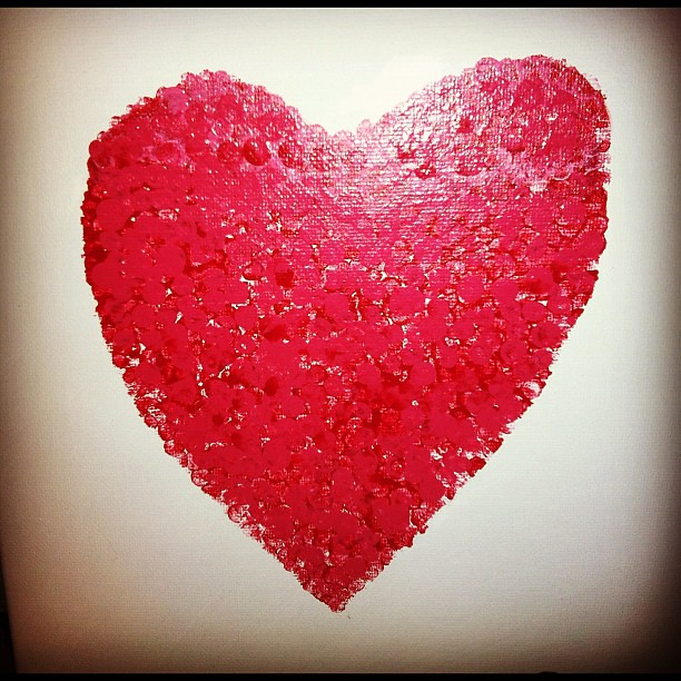 Pencil top heart art. #valentinesday #diy