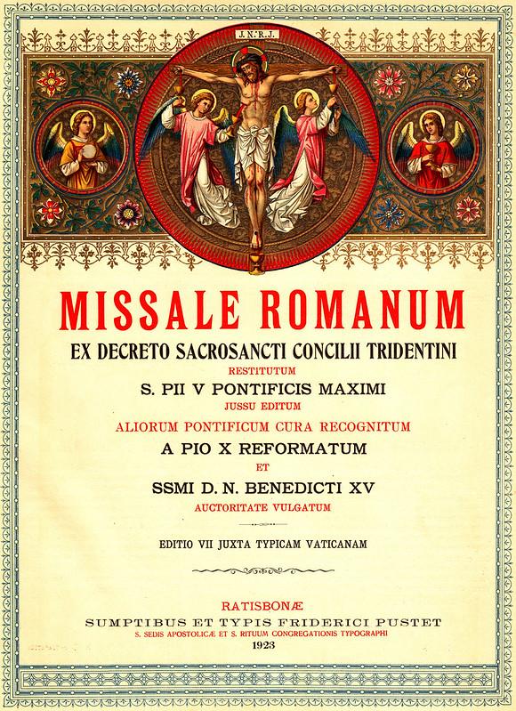 Frontispiece MISSALE ROMANUM 1923