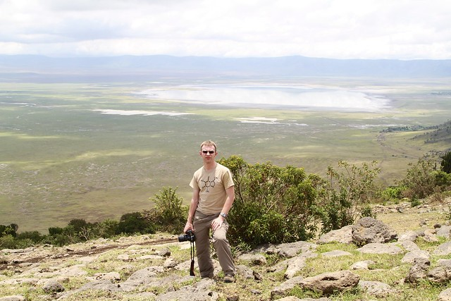 Me inside the rim of the Ngorongoro Crater