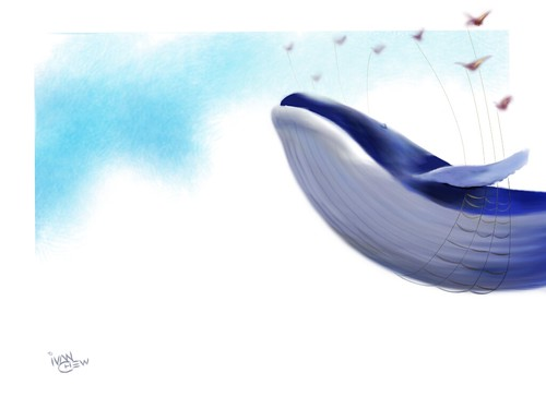 """Fail Whale"" (#43: Project 365 Sketches)"