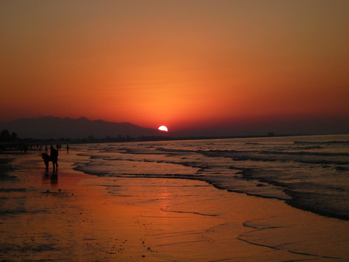 Sunset, Qurum beach, Muscat