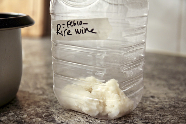 making rice wine