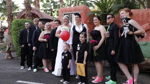 Mixed Neon Wedding Party
