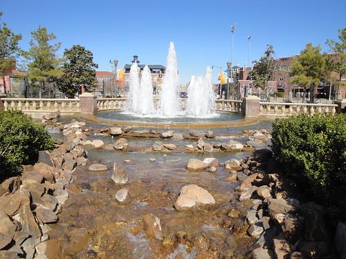 Fountain at Bricktown