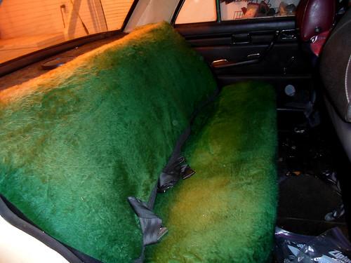 1971 Mercedes Benz 220D rear seat
