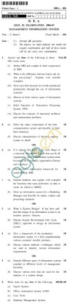 UPTU MBA Question Papers - MBA-206-M