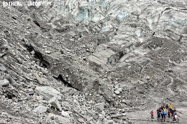 Fox Trot Fox Glacier Hike   Glacier Hiking in South Island New Zealand.