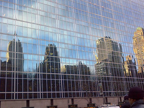Glass Canvas - Empire State Building reflection