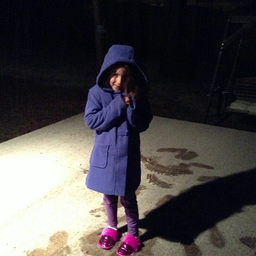 Her first snowfall!!