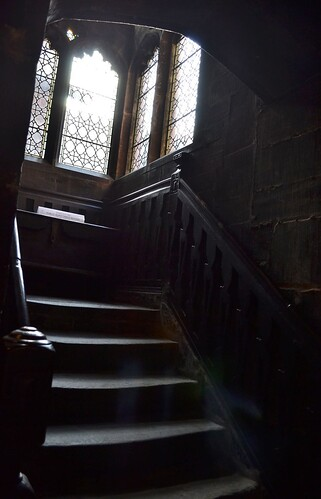 Medieval Steps, Chetham's Library by Angela Seager
