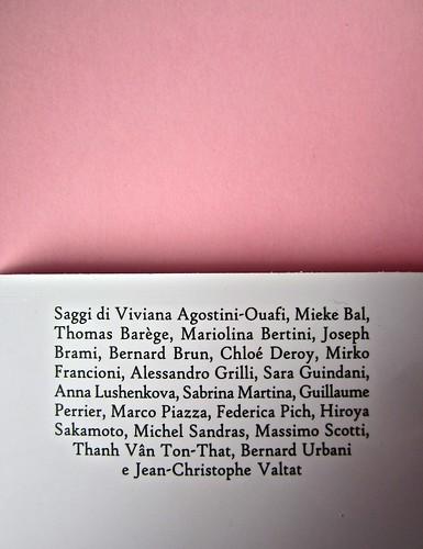 Proust e gli oggetti, a cura di G. G. Greco, S. Martina, M. Piazza. Le Cáriti Editore 2012. Impaginazione e grafica: DMD. Quarta di copertina (part.), 2