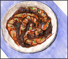 Black pepper prawns
