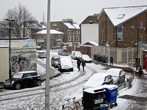 Coulgate Street in the snow