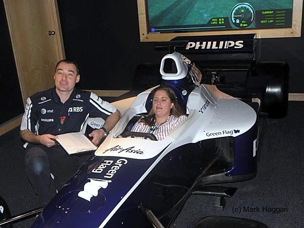 The Williams Simulator, built around Jenson Button's car