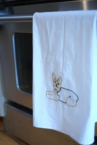Diy embroidered tea towel the junk drunk