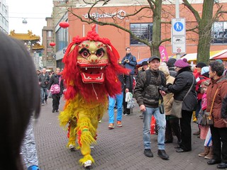 Leeuw Chinatown Den Haag