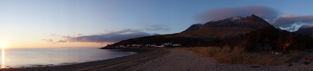 Arran sunrise panorama