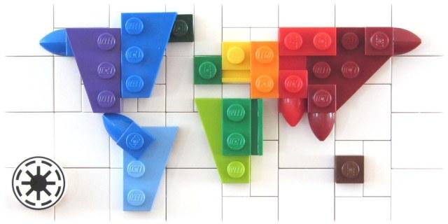 LEGO micro world map