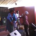 Batsi, Omega and Dudu at Book Cafe Harare