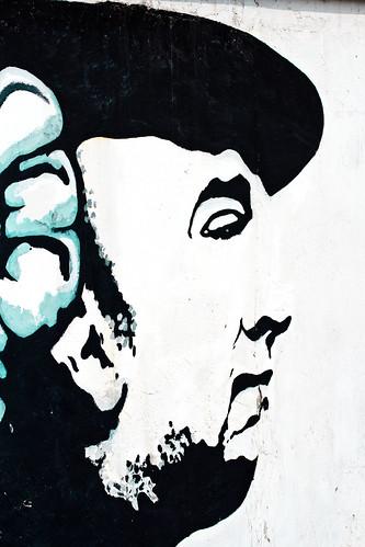 Imagen de Neruda en Santiago