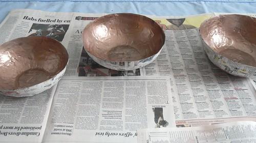 Papier Mache Bowls 18