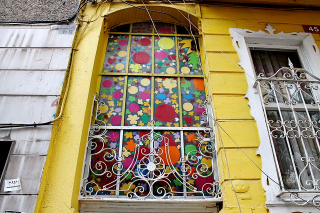 Bright window in Istanbul