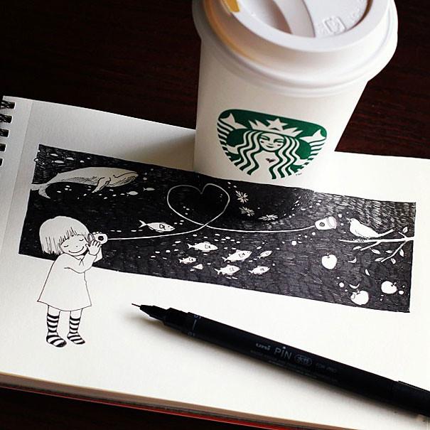 starbucks-cups-3d-drawings-tomoko-shintani-7