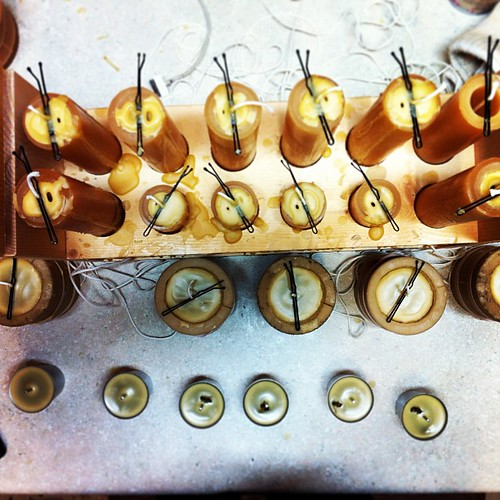 Candle maker's table #beekeeping #beeswax