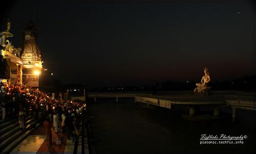 Worshiping Shiva on the Banks of Ganga @ Paramarth, Rishikesh by omshivaprakash
