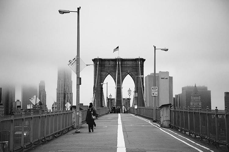 Brooklyn Bridge in B&W