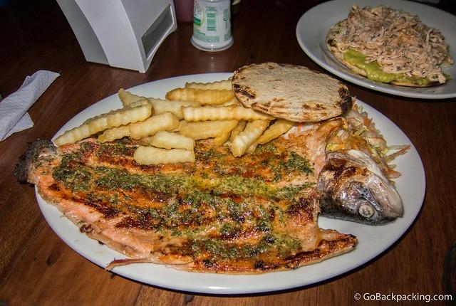 Trucha (trout) at El Balcon