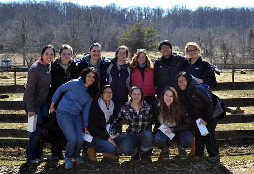 Volunteers pose with Volunteer Maryland Coordinator, Casey, before heading back to Massachusetts by Accokeek Foundation