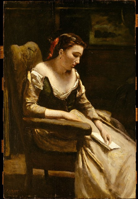 Camille Corot - The Letter (ca. 1865)