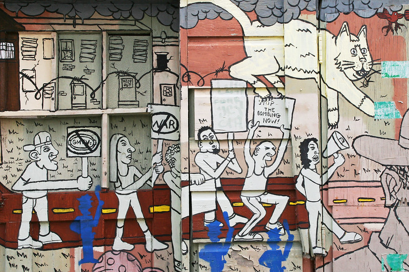 San Francisco street art: Chased by phantom police officers