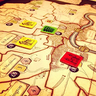 Building boroughs in London #boardgames