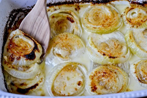 Roasted Parmesan Creamed Onions-10