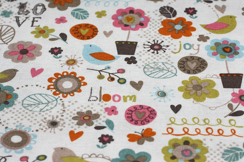 Anthology blooming lovely birds on white